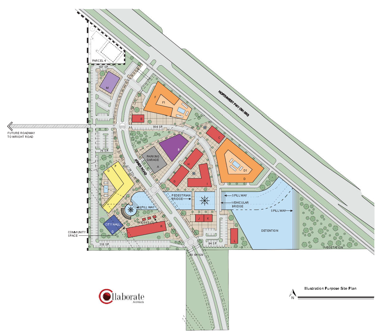 Village Center Site Map for illustration purposes